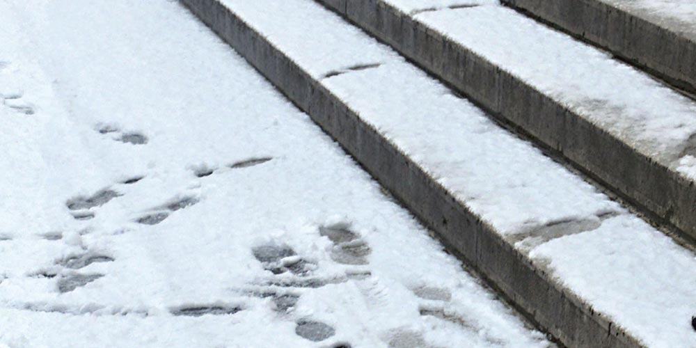 Slip On Snow Law Firm In Cambridge